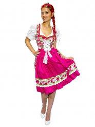 Disfraz bávara floreada mujer