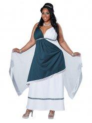 Disfraz de diosa romana azul mujer