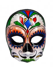 Semi máscara cráneo Día de los muertos adulto