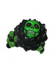 Brazalete esqueleto gótico negro y verde adulto