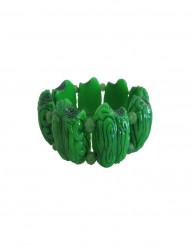 Brazalete cerebro verde zombie adulto