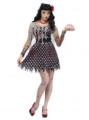 Disfraz zombie rockabilly mujer