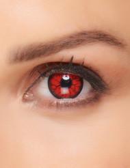 Lentillas fantasía monstruo rojo adulto