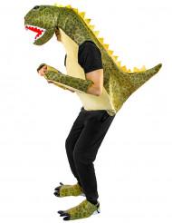 Disfraz dinosaurio verde adulto