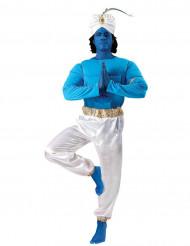 Disfraz genio oriental azul y blanco adulto