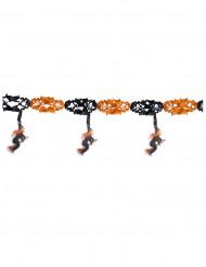 Guirlanda de brujas naranja y negro 300 x 40 cm