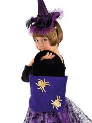 Bolso araña violeta niño