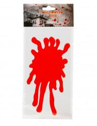 Pegatina para ventana mancha de sangre 30 x 15 cm Halloween