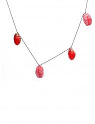 Guirlanda corazón y cerebro rojo 150 x 9 cm Halloween