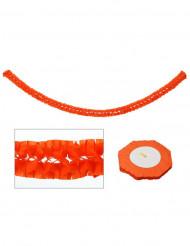 Guirnalda de papel decoración naranja 270 x 15 cm