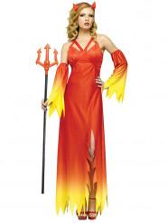 Disfraz diablo elegante mujer