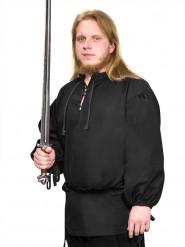 Blusa medieval negra para hombre