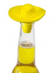 Tapón de botella sombrero amarillo 6x9 cm