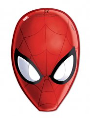 Lote de 6 máscaras Soiderman rojo 15.5 x 23 cm