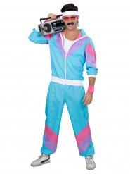 Disfraz de atleta años 80 turquesa hombre