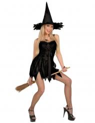 Disfraz bruja sexy negro mujer