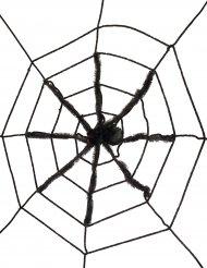 Telaraña con araña negra gigante 130 cm