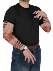 Mangas falsas de heridas zombie Halloween