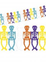 Guirlanda esqueletos colores Día de los muertos Halloween