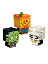 Lote de 3 cajas sorpresa Trick or Treat para Halloween multicolor
