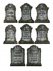 Decoraciones lápidas esqueleto Halloween 4 piezas