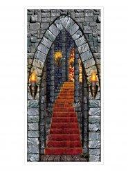 Decoración puerta de castillo encantado Halloween