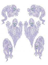 6 Decoraciones autoadhesivas fantasmas 78 x 100 cm
