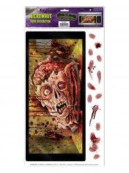 Pegatina para microondas cabeza de zombie Halloween 30 x 61 cm
