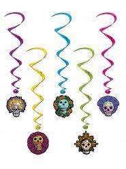 Decoraciones para colgar espiral Día de los muertos Halloween