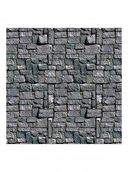 Decoración muro de piedra gris Halloween 1.2 x 9.1 m.
