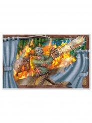 Decoración mural masacre con sierra 96 x 156 cm Halloween