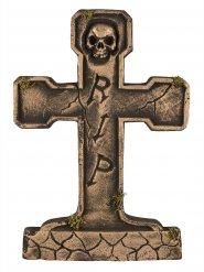 Piedra tumbal RIP esqueleto bronce 65 cm
