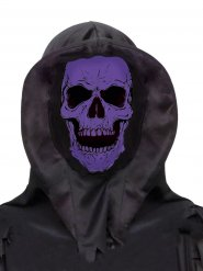 Máscara integral cráneo violeta negro adulto