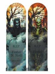 Cartel lenticular noche escalofriante Halloween 94 x 29 cm