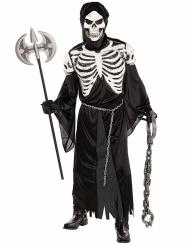 Disfraz esqueleto escalofriante adulto