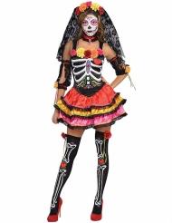 Disfraz esqueleto colorido Día de los muertos mujer