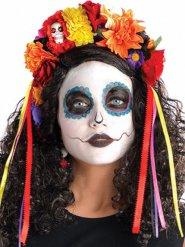 Corona de flores multicolor Día de los muertos