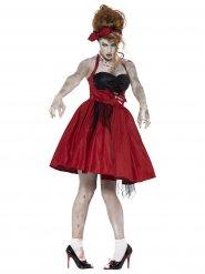 Disfraz zombie años 50 mujer
