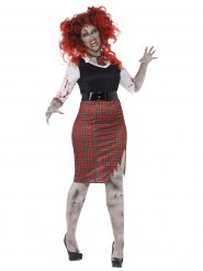 Disfraz zombie colegiala mujer