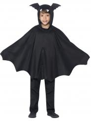 Disfraz poncho murciélago negro niños Halloween