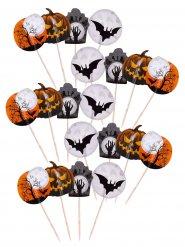 Lote de 20 palillos de decoración Halloween