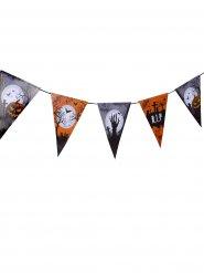 Guirlanda con banderines cementerio Halloween