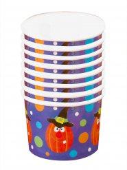 8 Tarrinas para postre calabaza Halloween 5.5x8.5 cm