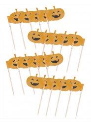 20 decoraciones calabaza para cupcakes 7 cm