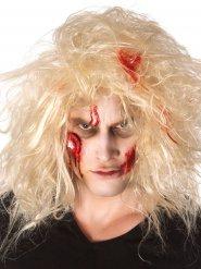 Kit maquillaje zombie con ojo ensangrentado adulto Halloween