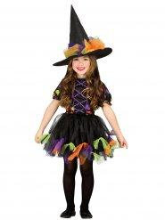 Disfraz bruja tul de colores niña Halloween
