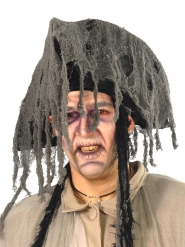 Sombrero de pirata fantasma gris