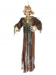 Decoración espantapájaros zombie Halloween 150 cm