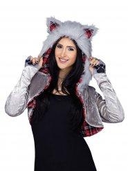 Disfraz chaqueta de lobo mujer