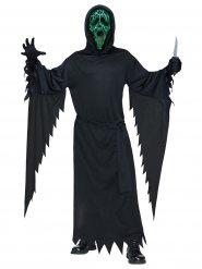 Disfraz Scream™ con luz verde negra adulto Halloween